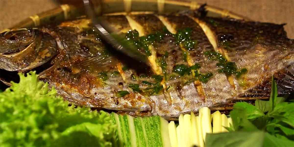 Cá Dìa nướng ớt xanh - Đặc sản Nha Trang