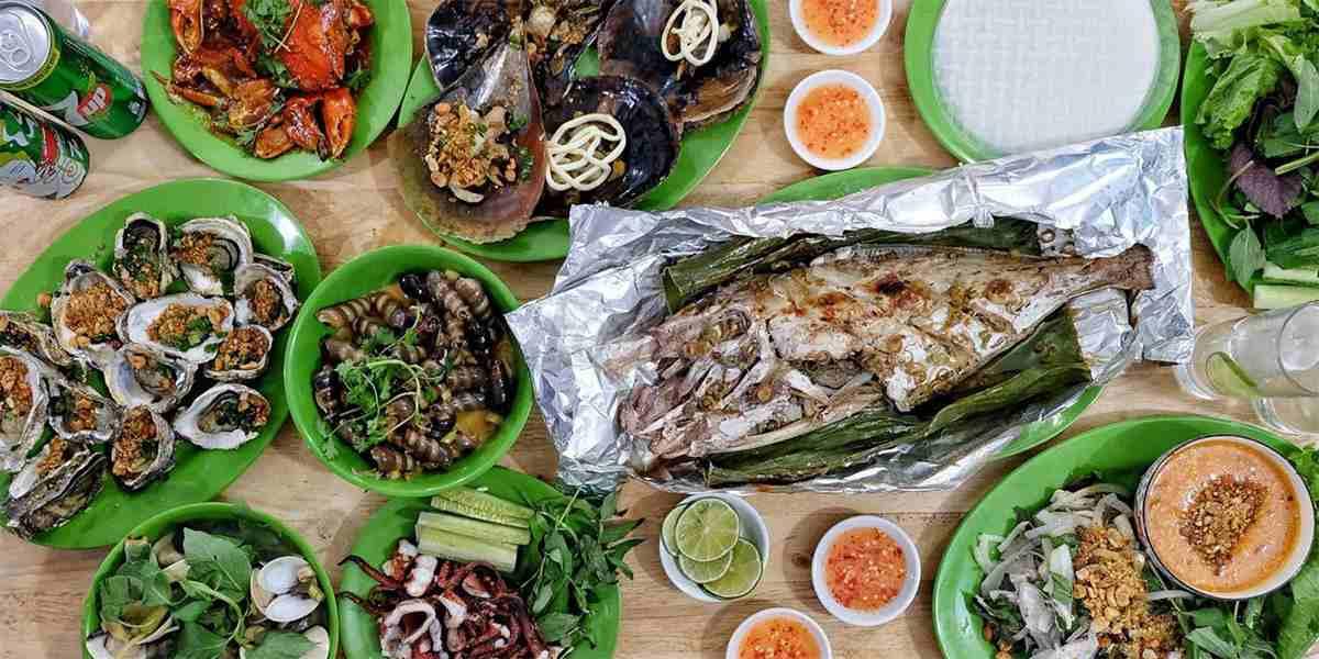 Các quán hải sản bờ kè Nha Trang