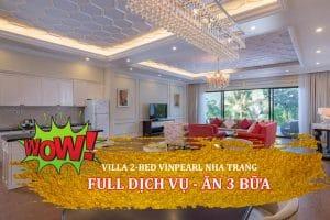full dịch vụ villa 2 ngủ vinpearl nha trang