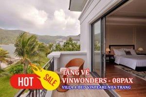 Villa 4 phòng ngủ Vinpearl Nha Trang gói ăn sáng