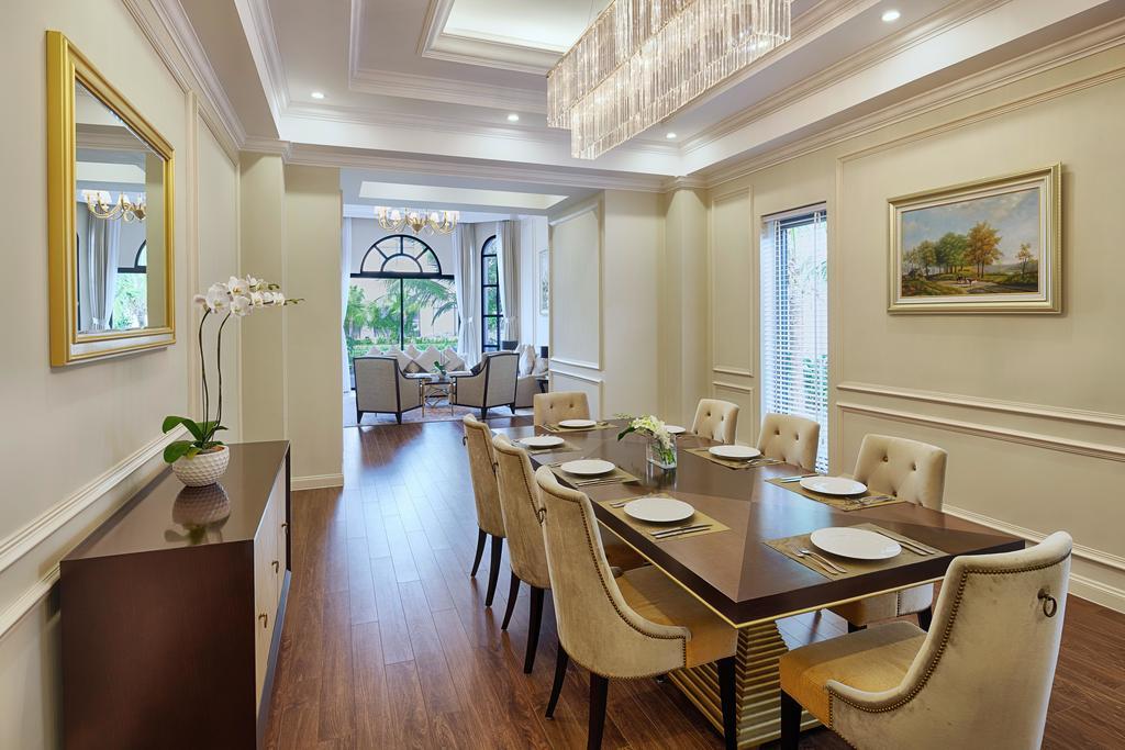 Villa 3 phòng ngủ Vinpearl Phú Quốc với phòng ăn rộng rãi