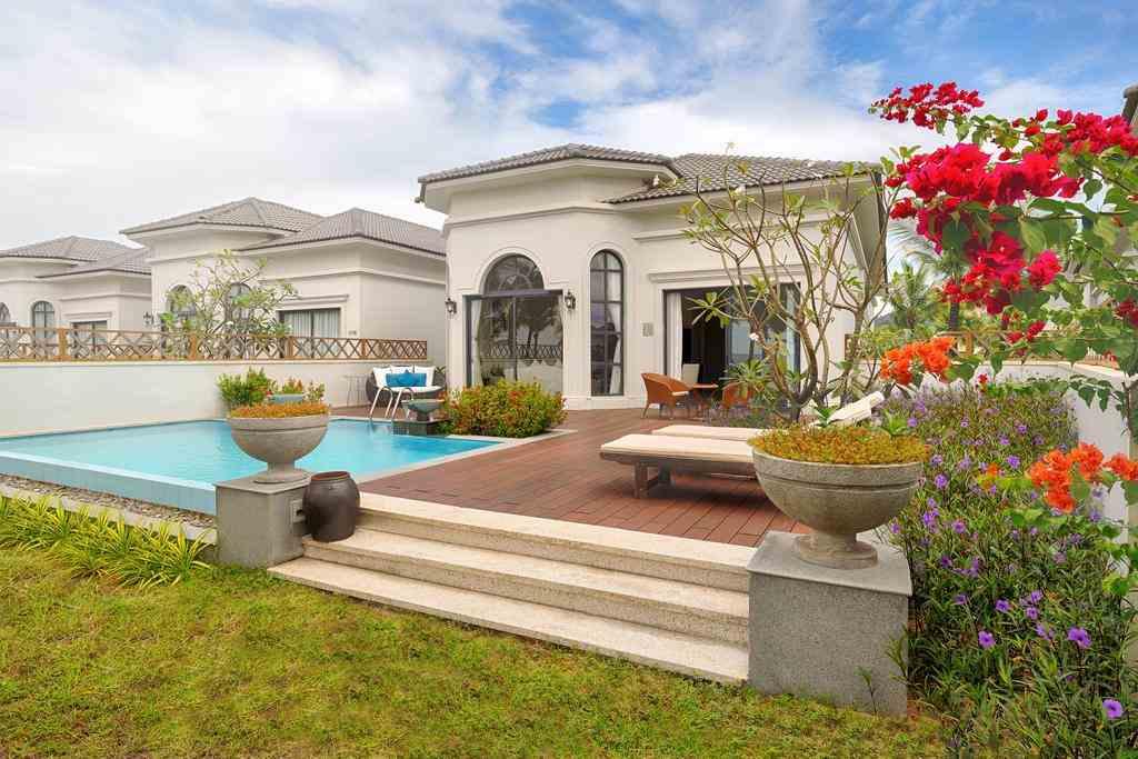 Villa 3 phòng ngủ Vinpearl Phú Quốc với bể bơi riêng