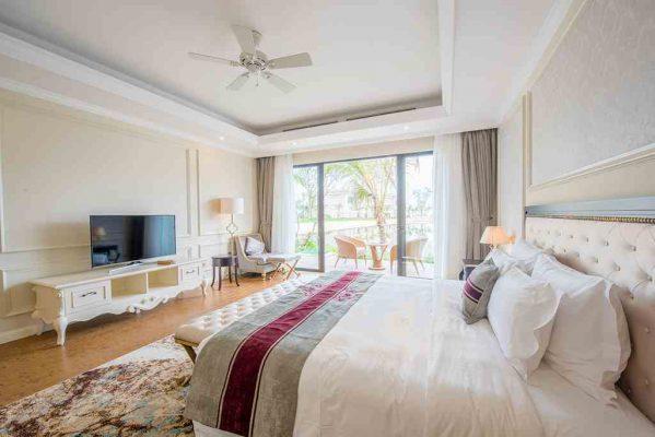 Phòng ngủ villa 4 ngủ Vinpearl Phú Quốc